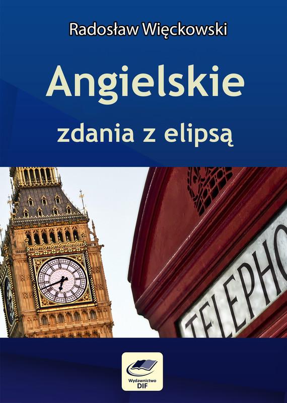 okładka Angielskie zdania z elipsą, Ebook | Radosław Więckowski