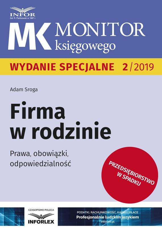 okładka Firma w rodzinie, Ebook | Adam Sroga