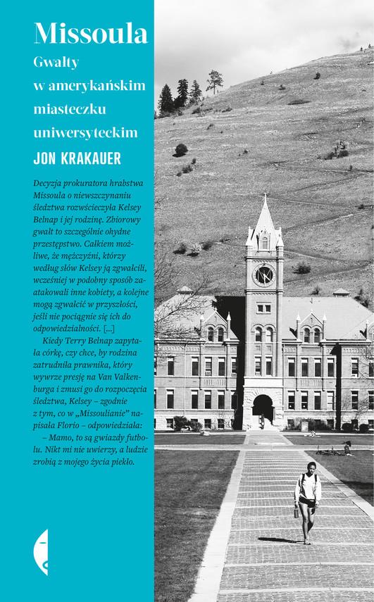 okładka Missoula. Gwałty w amerykańskim miasteczku uniwersyteckim, Ebook | Jon Krakauer