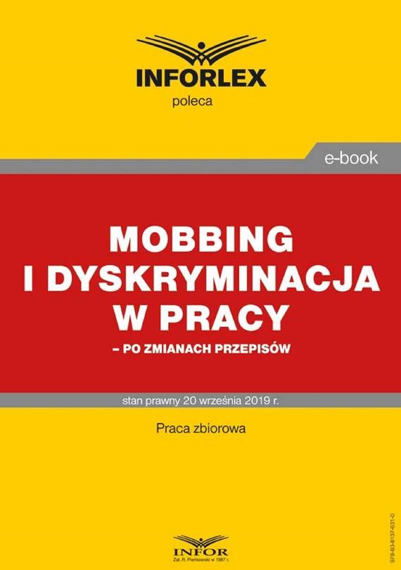 okładka Mobbing i dyskryminacja w pracy – po zmianach przepisówebook | pdf | praca  zbiorowa