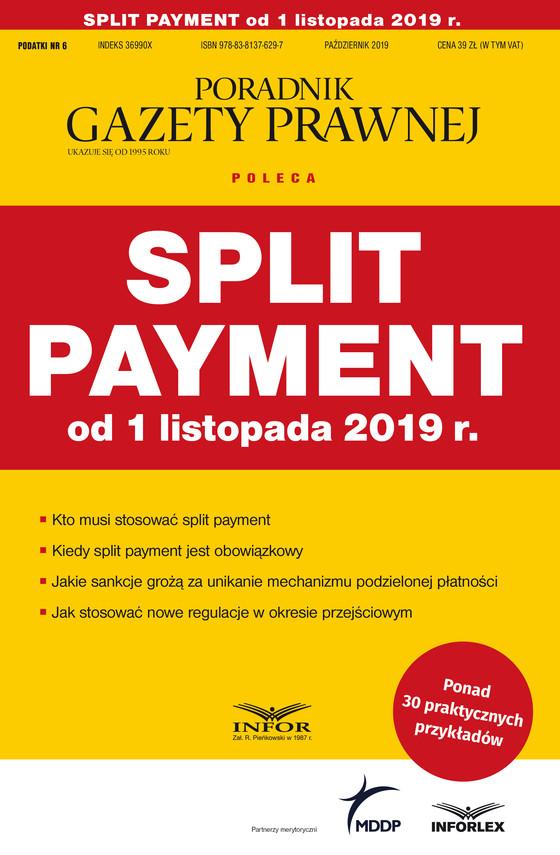 okładka Split payment od 1 listopada 2019 r., Ebook   praca  zbiorowa