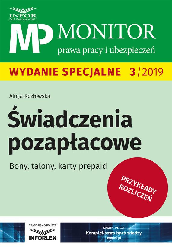 okładka Świadczenia pozapłacowe.Bony, talony, karty prepaidebook | pdf | Alicja Kozłowska