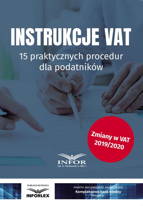 okładka Instrukcje VAT.15 praktycznych procedur dla podatników, Ebook   praca  zbiorowa