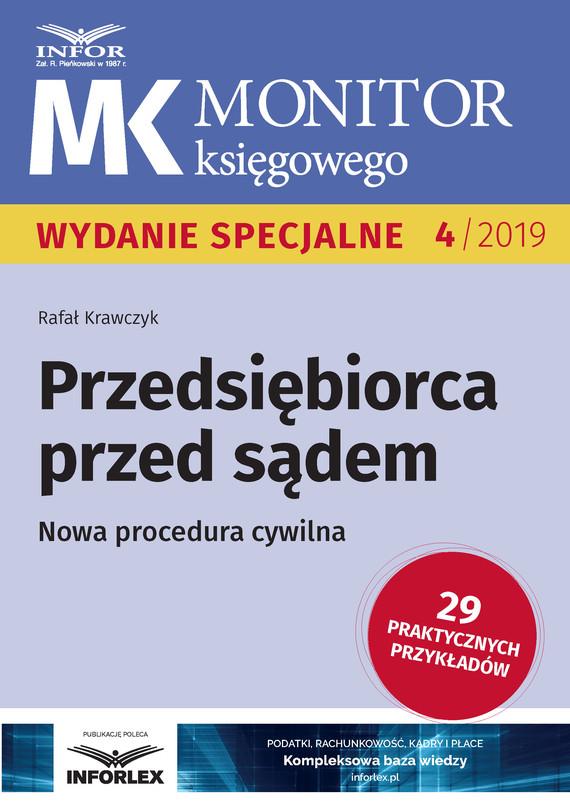 okładka Przedsiębiorca przed sądem .Nowa procedura cywilna, Ebook | Rafał  Krawczyk