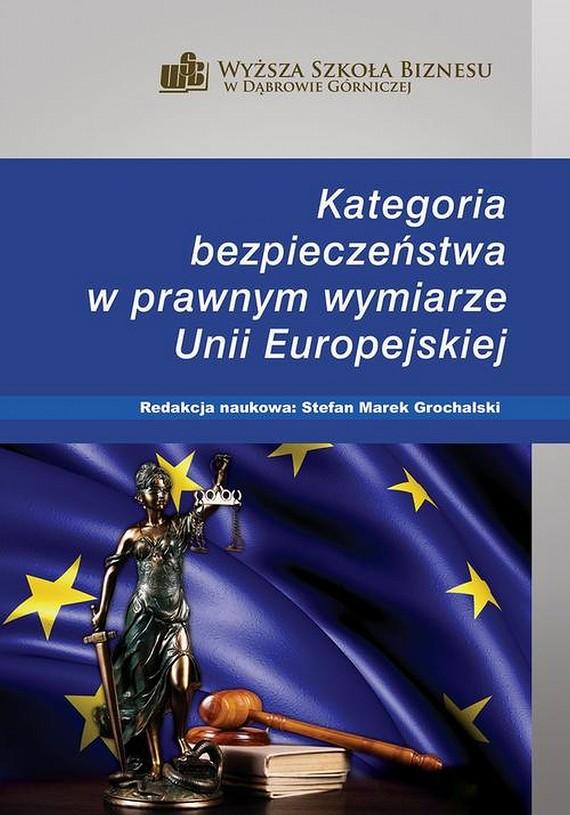 okładka Kategoria bezpieczeństwa w prawnym wymiarze Unii Europejskiej, Ebook | Stefan M.  Grochalski