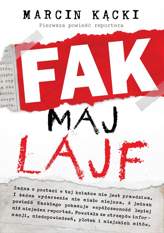 okładka Fak maj lajf, Ebook | Marcin Kącki