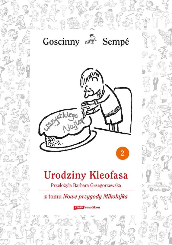 okładka Urodziny Kleofasa  z tomu Nowe przygody Mikołajka.  Minibook, Ebook   René Goscinny, Jean-Jacques Sempé