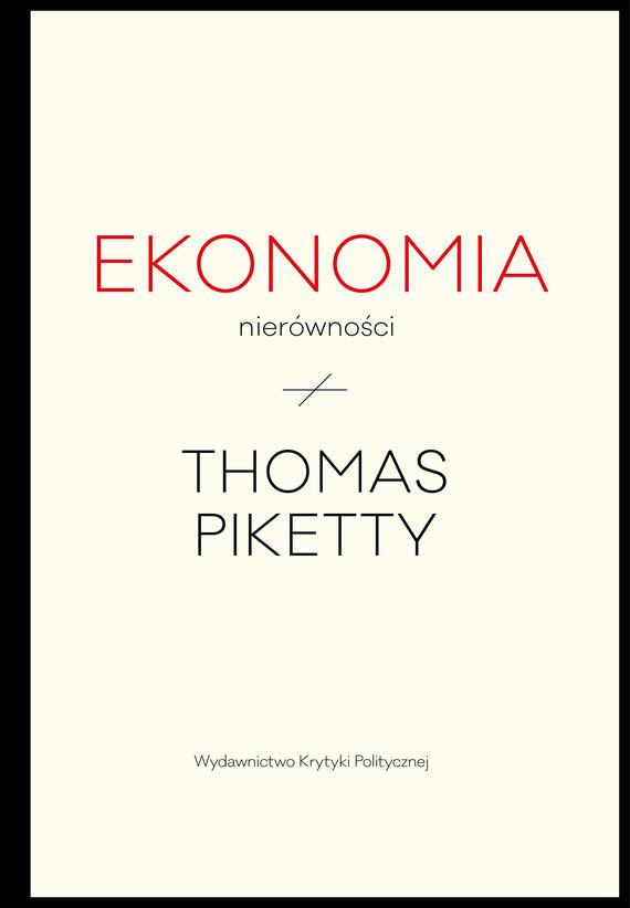 okładka Ekonomia nierównościebook | epub, mobi | Thomas Piketty