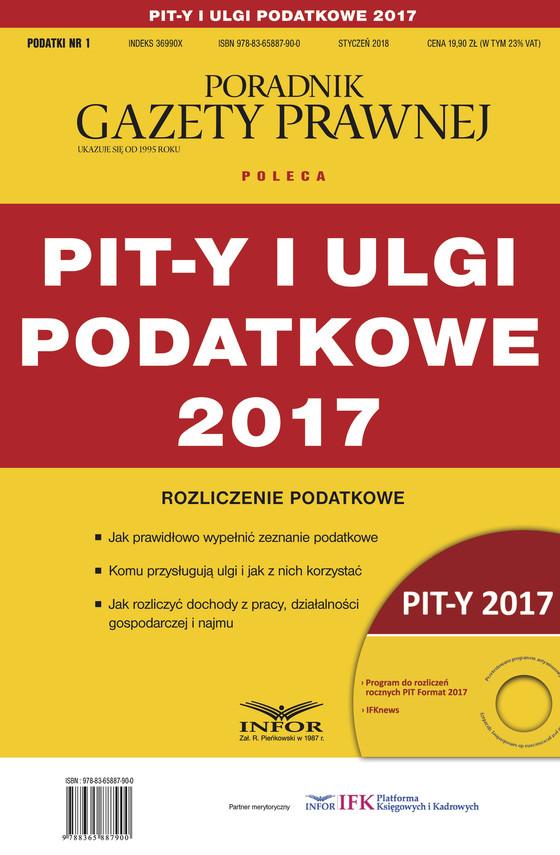 okładka PIT-y i ulgi podatkowe 2017. Rozliczenie podatkowe, Ebook | Praca Zbiorowa