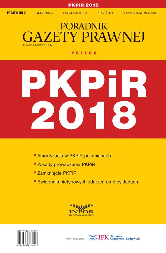okładka PKPiR 2018, Ebook | Praca Zbiorowa
