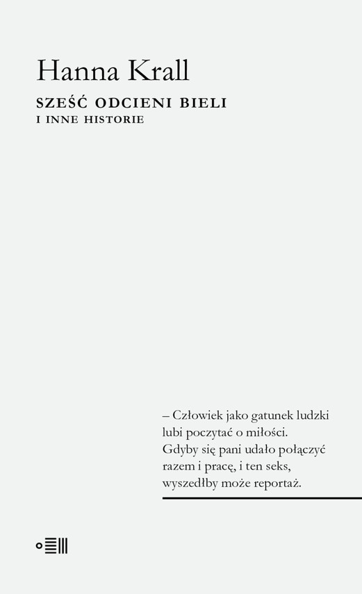 okładka Sześć odcieni bieli, Ebook   Hanna Krall