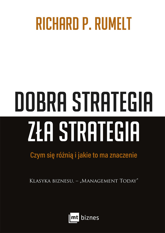 okładka Dobra strategia zła strategiaebook | epub, mobi | Richard P. Rumelt