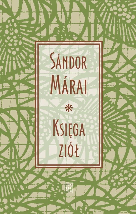 okładka Księga ziółebook | epub, mobi | Sándor Márai, tłumacz Feliks Netz