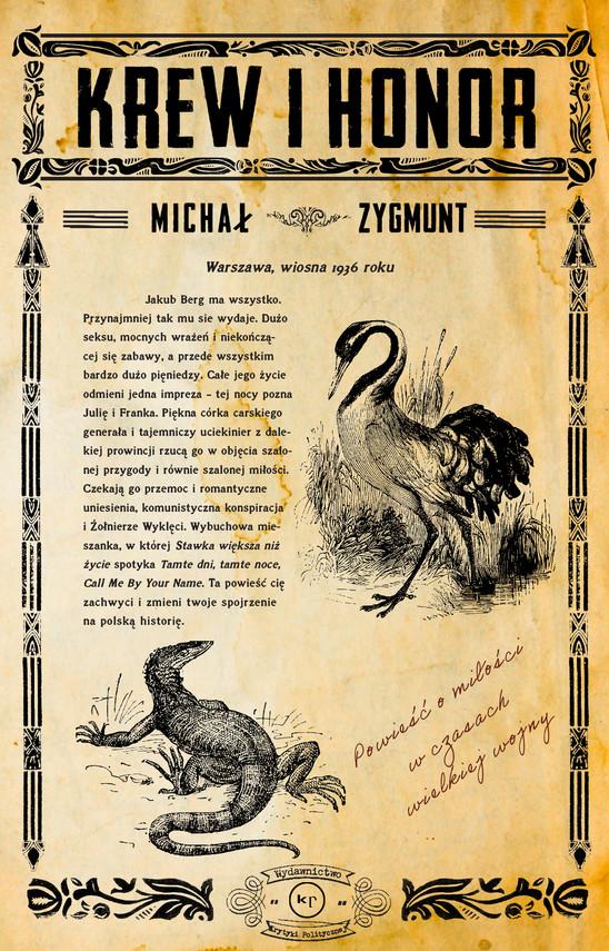 okładka Krew i honorebook | epub, mobi | Michał Zygmunt
