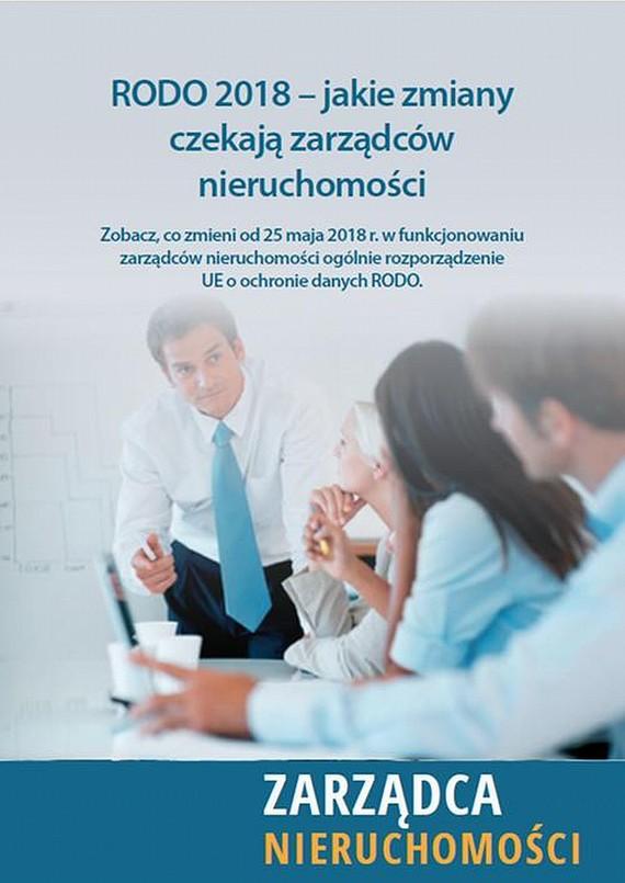 okładka RODO 2018 – jakie zmiany czekają zarządców nieruchomości, Ebook | Marcin  Sarna