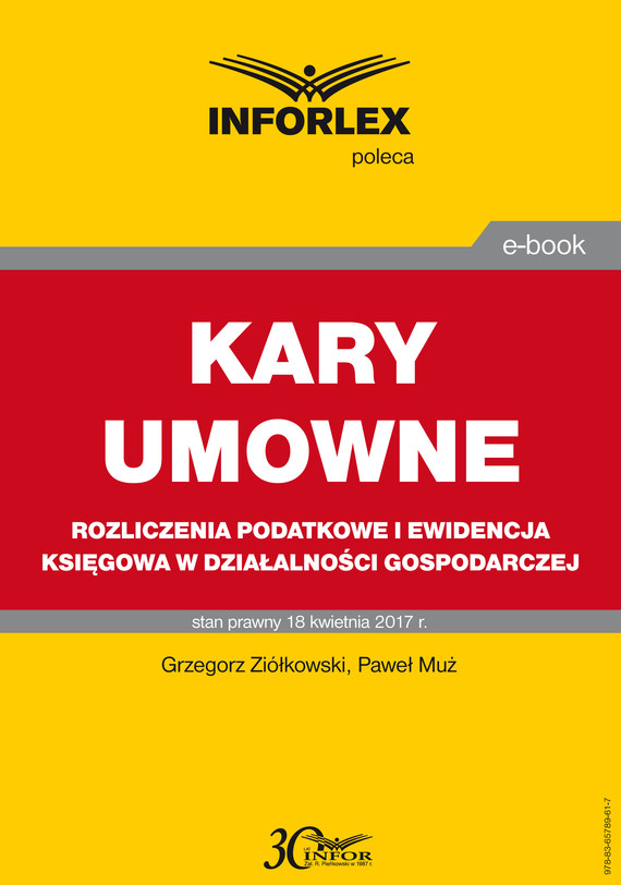 okładka KARY UMOWNE rozliczenia podatkowe i ewidencja księgowa w działalności gospodarczej, Ebook   Grzegorz Ziółkowski, Paweł Muż