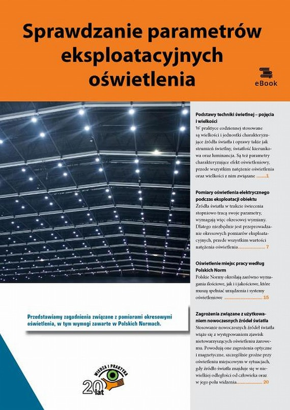 okładka Sprawdzanie parametrów eksploatacyjnych oświetlenia, Ebook | Praca Zbiorowa