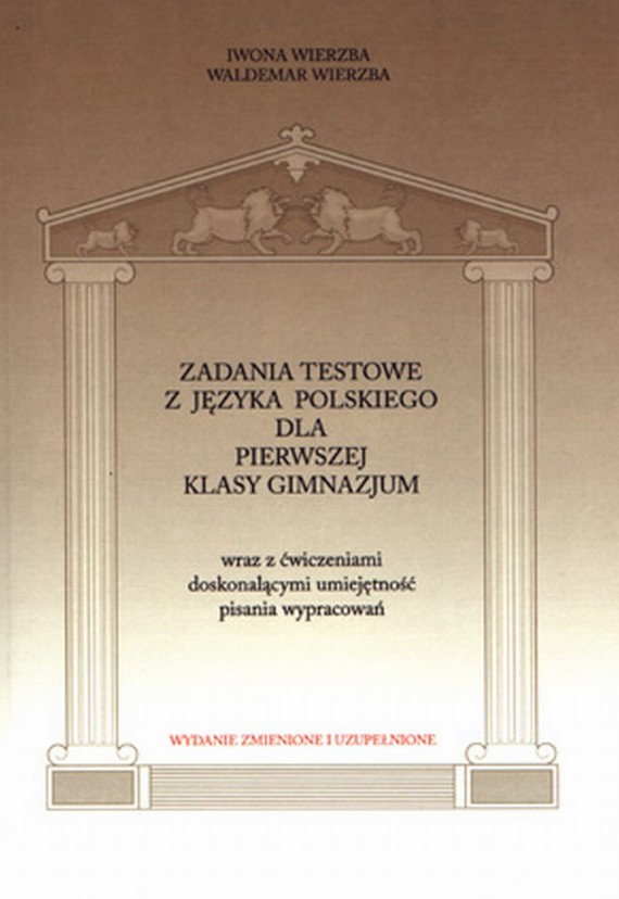 okładka Zadania testowe z języka polskiego dla pierwszej klasy gimnazjumebook | pdf | Iwona  Wierzba