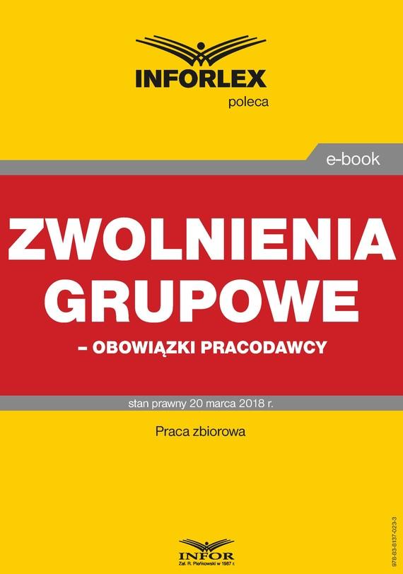 okładka Zwolnienia grupowe – obowiązki pracodawcy, Ebook | Praca Zbiorowa