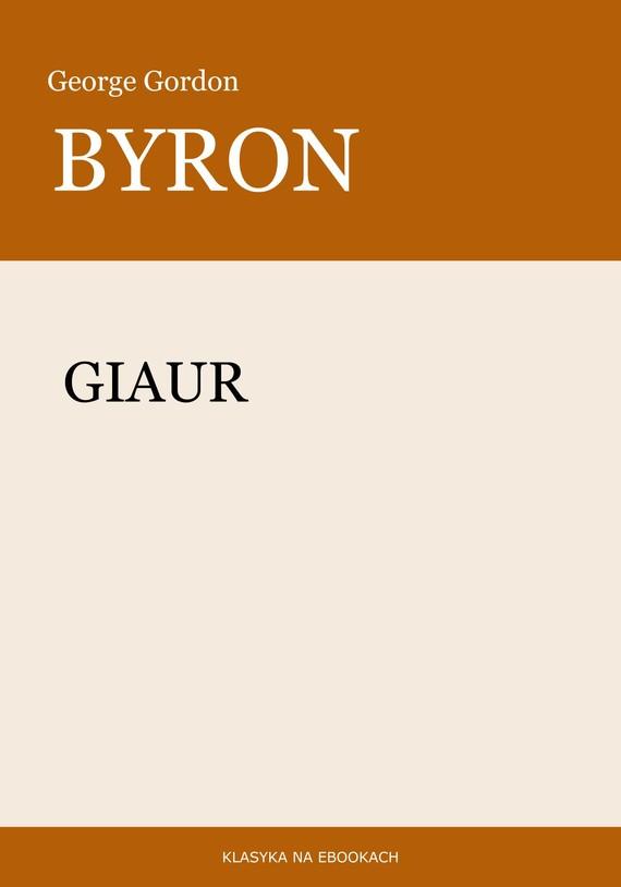 okładka Giaurebook | epub, mobi | George Gordon