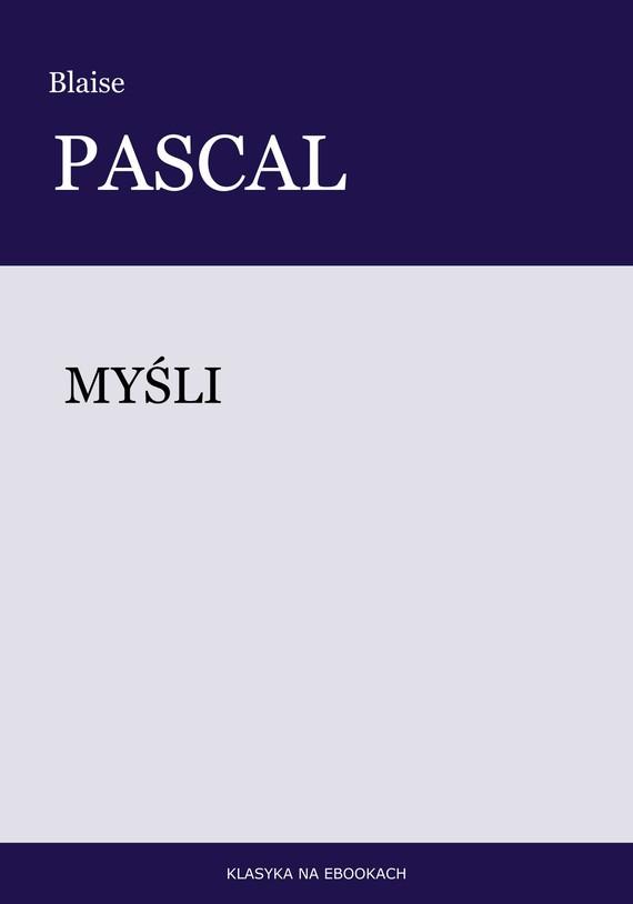 okładka Myśliebook   epub, mobi   Blaise Pascal