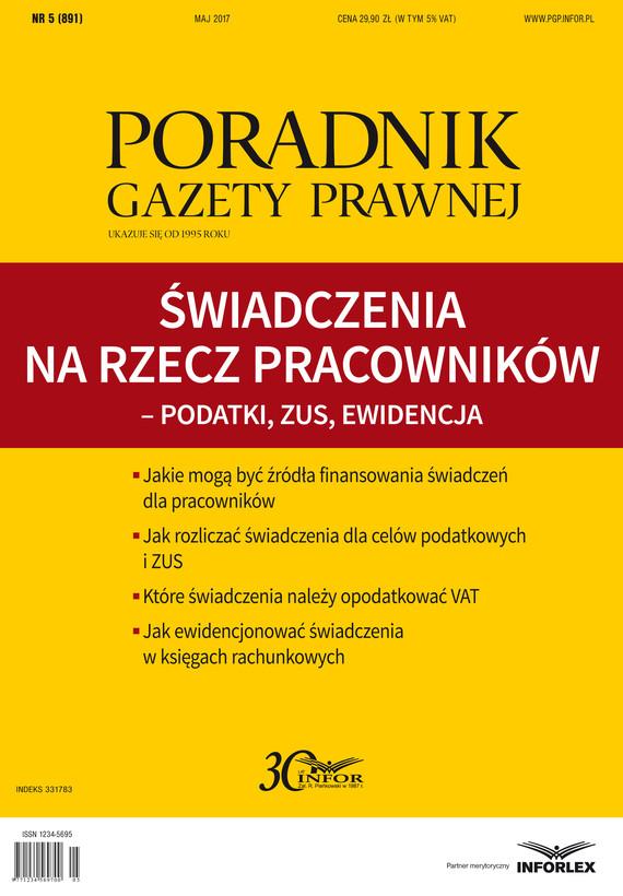 okładka Świadczenia na rzecz pracowników – podatki, ZUS, ewidencjaebook | pdf | INFOR PL S.A.