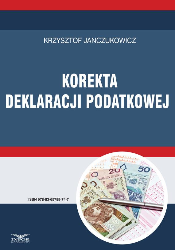 okładka Korekta deklaracji podatkowejebook   pdf   Krzysztof Janczukowicz