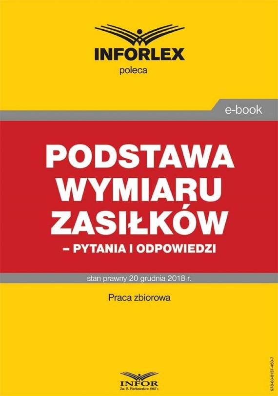 okładka Podstawa wymiaru zasiłków- pytania i odpowiedziebook | pdf | praca  zbiorowa