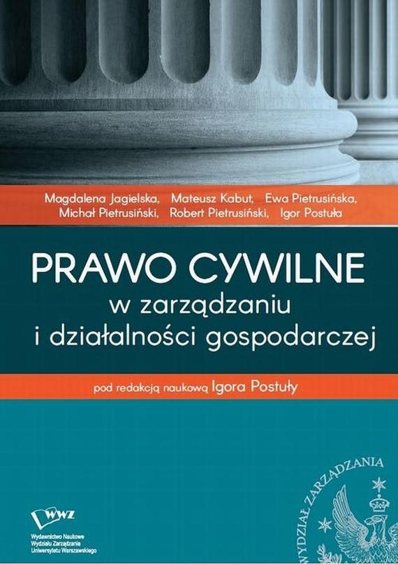 okładka Prawo cywilne w zarządzaniu i działalności gospodarczejebook | pdf | Igor  Postuła