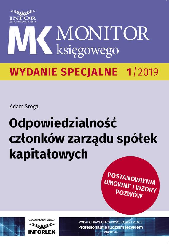 okładka Odpowiedzialność członków zarządu spółek kapitałowychebook | pdf | Adam Sroga