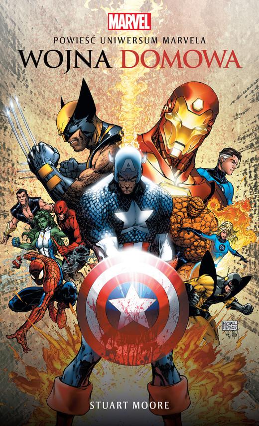 okładka Wojna domowa. Powieść Uniwersum Marvela, Ebook | Stuart Moore