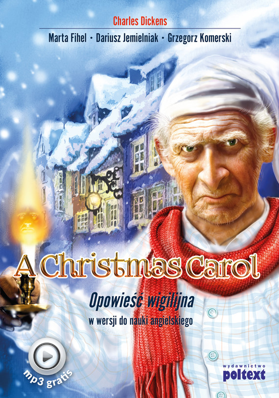 okładka A Christmas Carol, Ebook | Charles Dickens, Dariusz Jemielniak, Marta Fihel, Grzegorz Komerski