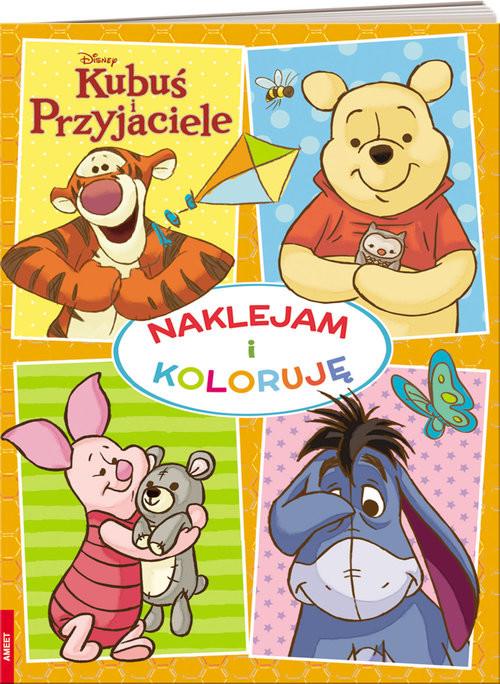 okładka Kubuś i przyjaciele Naklejam i koloruję, Książka |