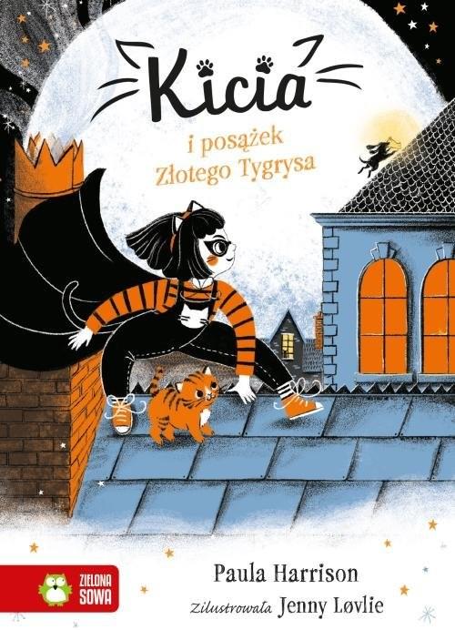 okładka Kicia i posążek Złotego Tygrysa KITTY and the Tiger Treasure, Książka | Paula Harrison