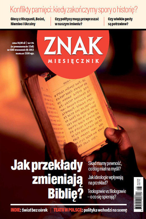 okładka Miesięcznik ZNAK nr 688 (9/2012), Ebook | autor zbiorowy