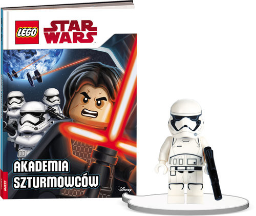 okładka Książka do czytania Lego Star Wars Akademia szturmowców + minifigurka K ZKLNRD309/1, Książka |
