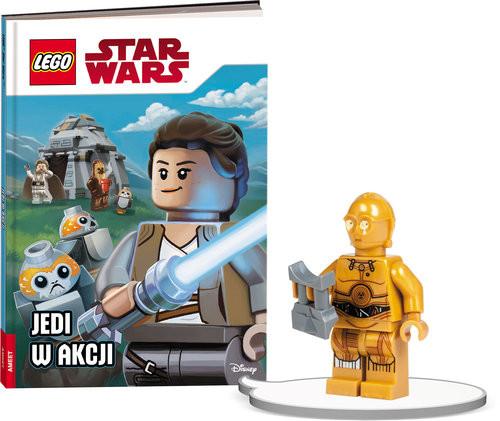 okładka Książka do czytania Lego Star Wars Jedi w akcji + minifigurka K ZKLNRD310/1, Książka |
