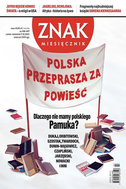 okładka Miesięcznik ZNAK lipiec-sierpień 2012, Ebook | autor zbiorowy