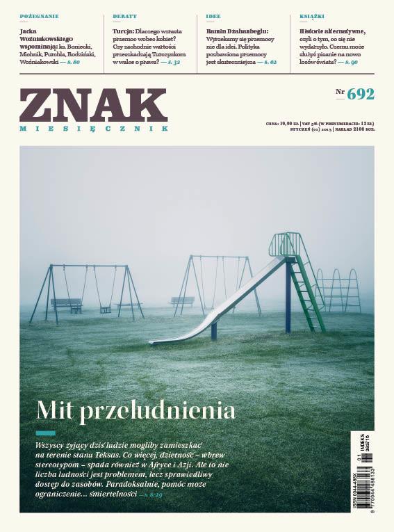 okładka Miesięcznik ZNAK nr 692 (1/2013), Ebook | autor zbiorowy