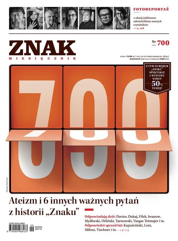 okładka Miesięcznik ZNAK nr 700 (9/2013)ebook | epub, mobi | autor zbiorowy