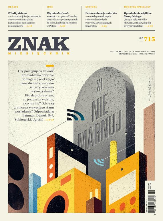okładka Miesięcznik ZNAK nr 715 (12/2014)ebook   epub, mobi   autor zbiorowy