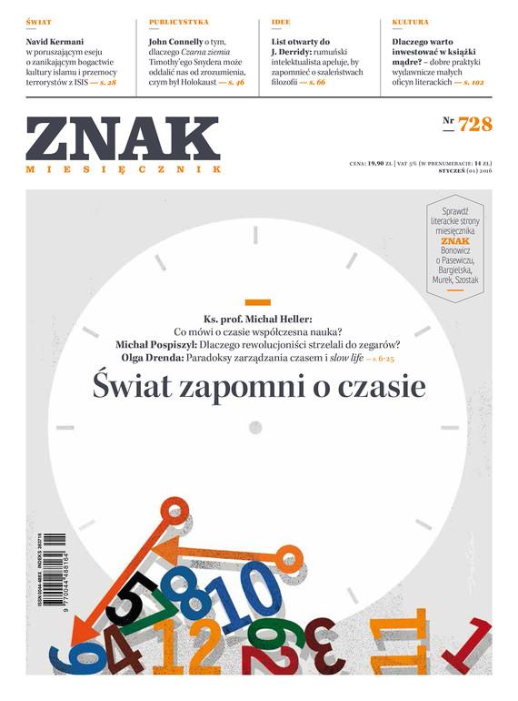 okładka Miesięcznik ZNAK nr 728 (1/2016), Ebook | autor zbiorowy