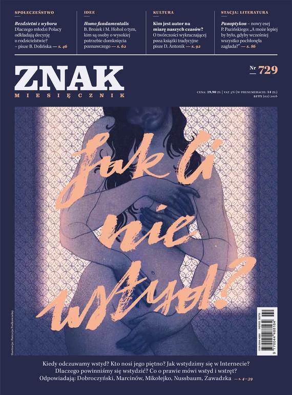 okładka Miesięcznik ZNAK nr 729 (2/2016), Ebook | autor zbiorowy