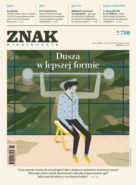 okładka Miesięcznik ZNAK nr 730 (3/2016), Ebook | autor zbiorowy