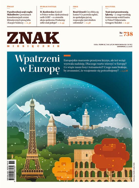 okładka Miesięcznik ZNAK nr 738: Wpatrzeni w Europęebook | epub, mobi | autor zbiorowy