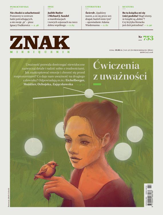okładka Miesięcznik ZNAK nr 753: Ćwiczenia z uważnościebook   epub, mobi   autor zbiorowy