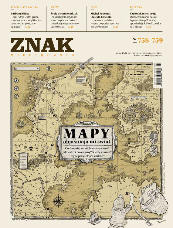 okładka Miesięcznik ZNAK nr 758-759: Mapy objaśniają mi światebook | epub, mobi | autor zbiorowy