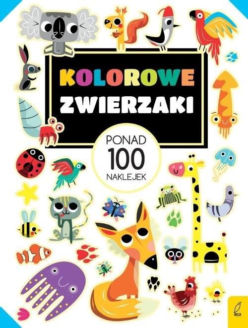 okładka Ponad 100 naklejek Kolorowe zwierzaki, Książka |
