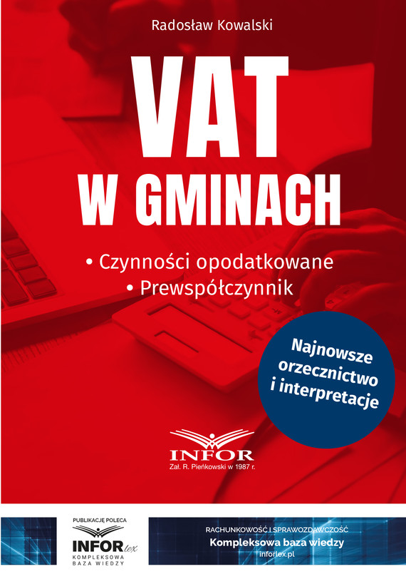 okładka VAT w gminach.Czynności opodatkowane.Prewspółczynnik, Ebook   Radosław Kowalski