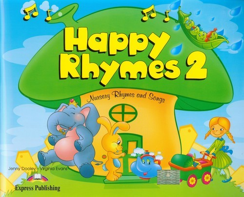 okładka Happy Rhymes 2 Pupil's Book + CD + DVD, Książka   Jenny Dooley, Virginia Evans